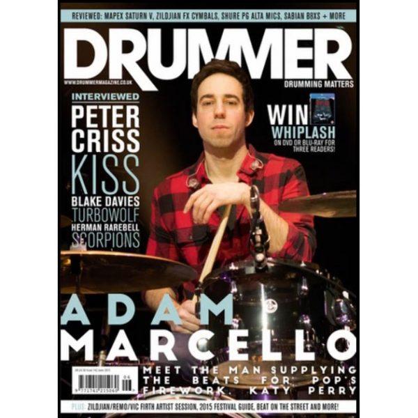 Adam Marcello Drummer Magazine Cover