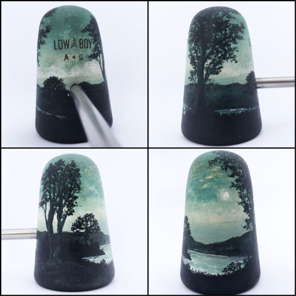 Amelia Golding Hand Painted Bass Drum Beater - Trees