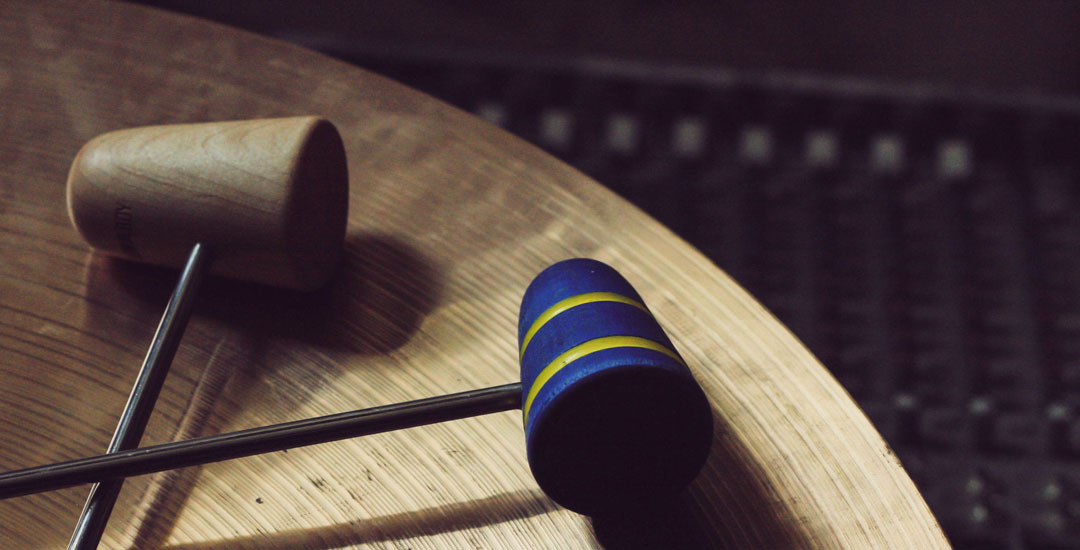Custom Bass Drum Beaters On Cymbal