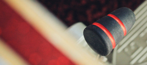 Black and Red Wood Bass Drum Beater
