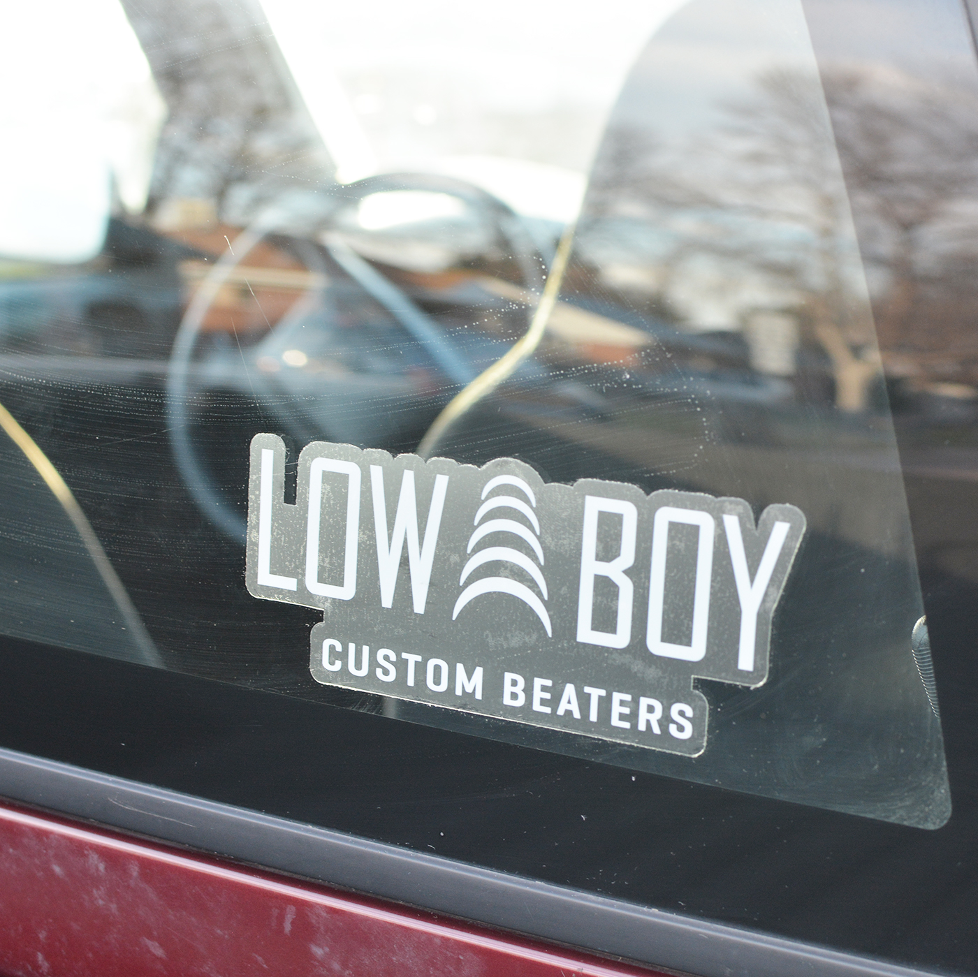 Low Boy Window Decal