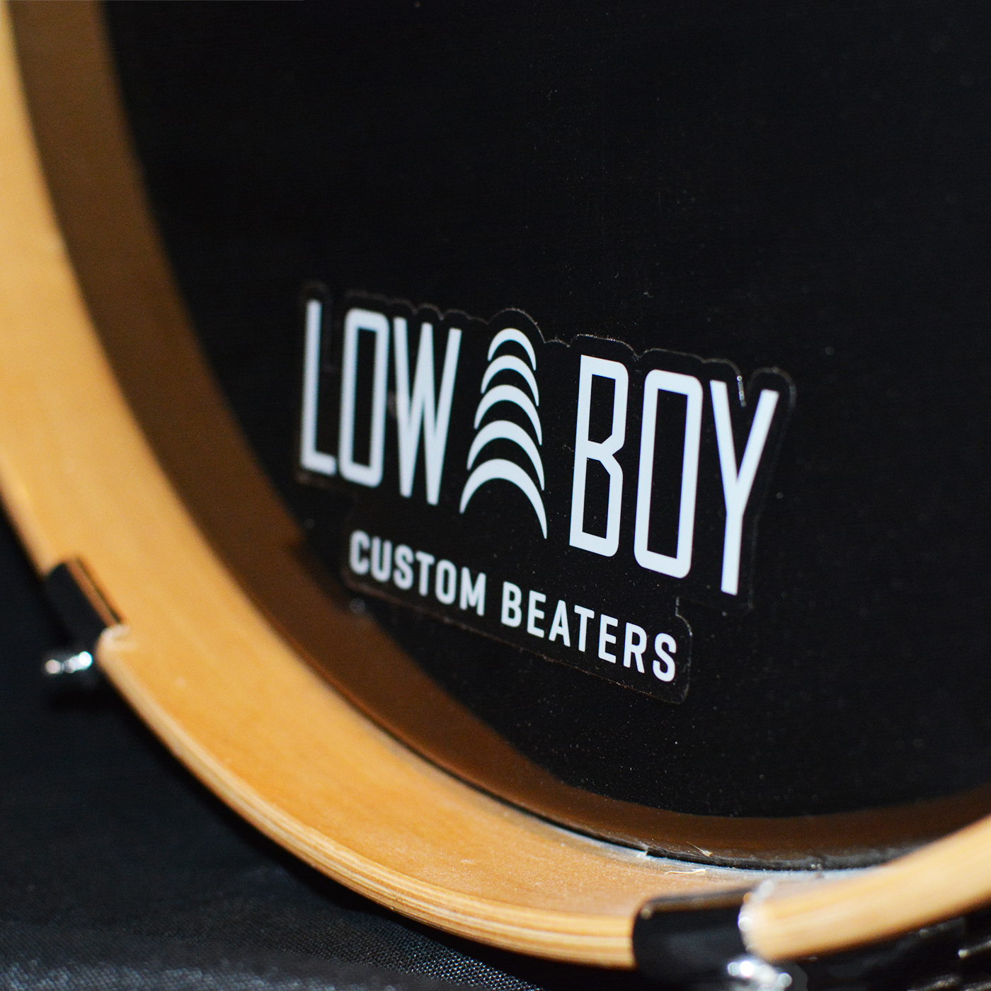 Low Boy White Bass Drum Decal