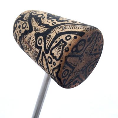 Evan Lorenzen Hand Drawn Bass Drum Beater - Fish Pattern
