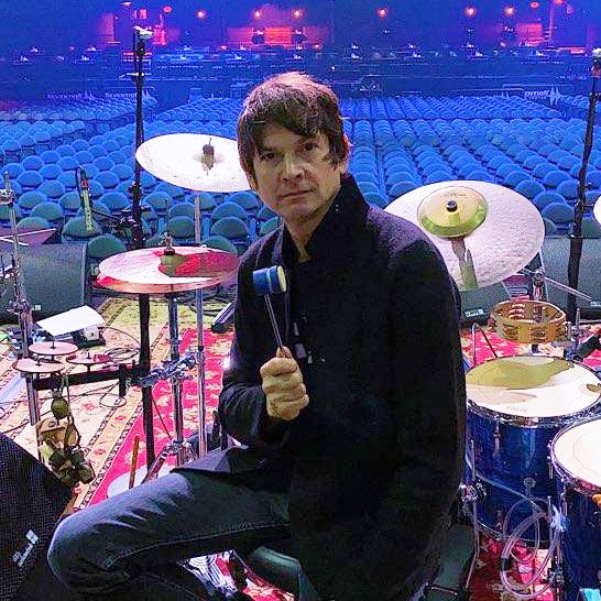 Glenn Kotche with Bass Drum Beater