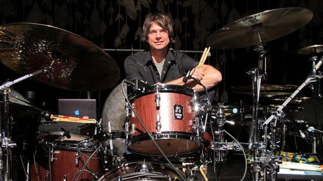 Glenn Kotche with Drum Set
