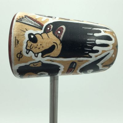 Hand Painted Hayden Menzies Wood Bass Drum Beater
