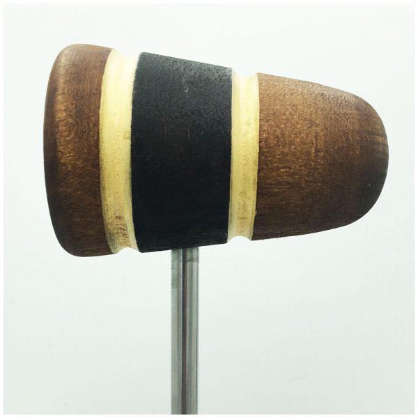 Light Brown/Black/Light Brown w/Gold Sparkle Stripes