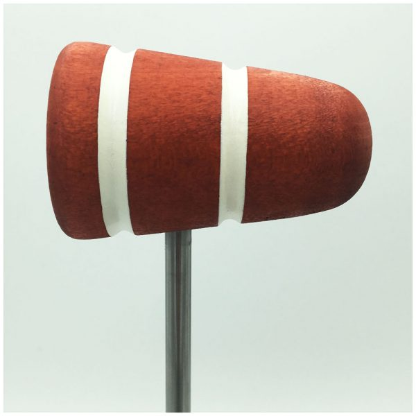 Orange w/White Stripes Bass Drum Beater