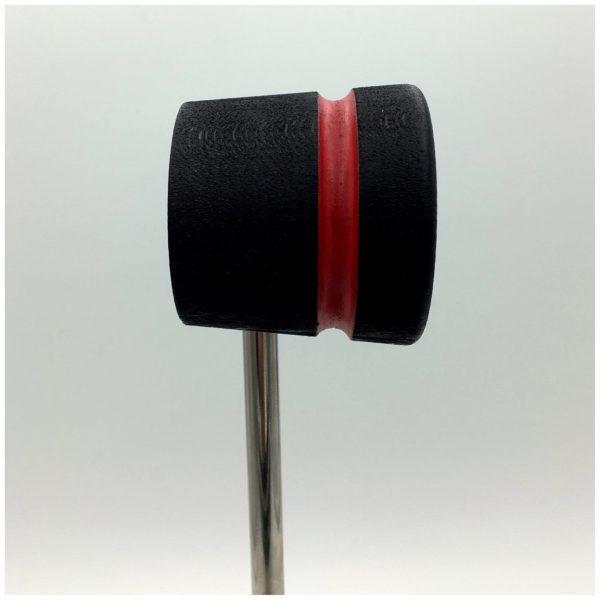 Black w/Red Stripe Wood Bass Drum Beater