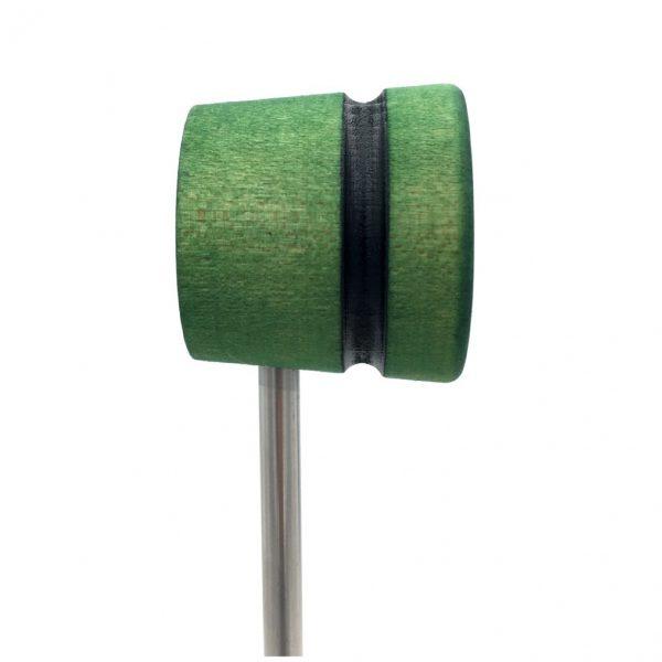 Green w/Black Stripe Wood Bass Drum Beater