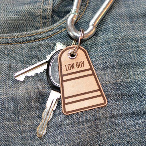 Low Boy Leather Keychain