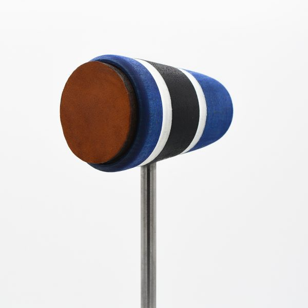 Leather Daddy, Blue/Black/Blue with White Stripes