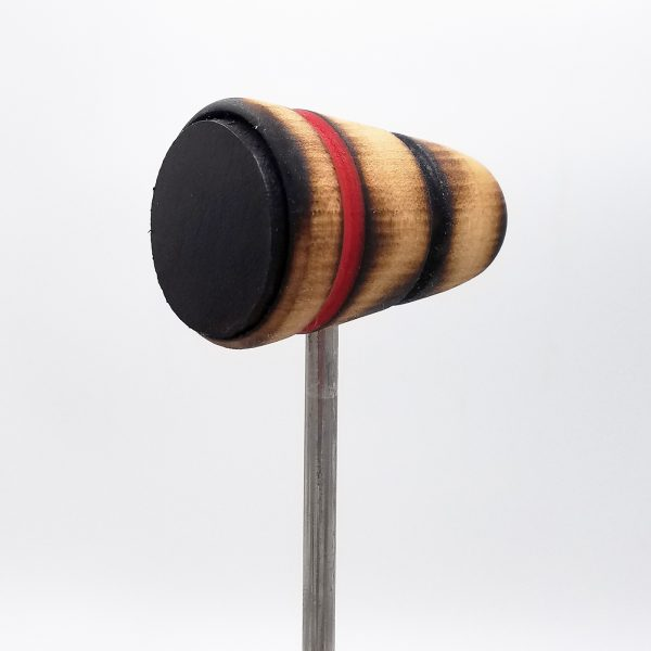 Leather Daddy, Scorched with Black and Red Stripes