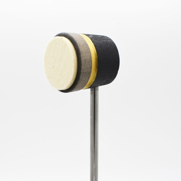 Lightweight Leather Daddy, Black/Silver with Gold Sparkle Stripe