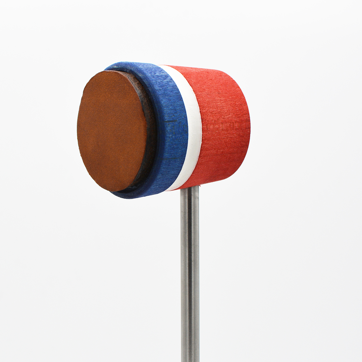 Lightweight Leather Daddy, Red/Blue with White Stripe