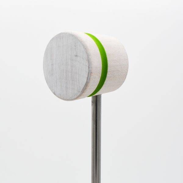 Lightweight, White with Lime Green Stripe