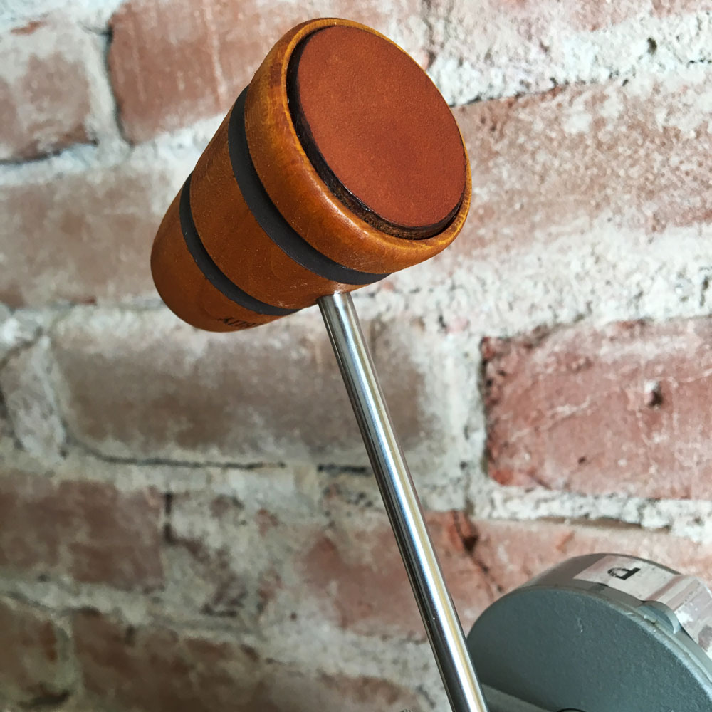 Wood and Leather Bass Drum Beater