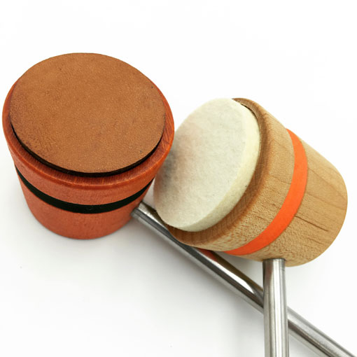 Felt and Leather Bass Drum Beaters