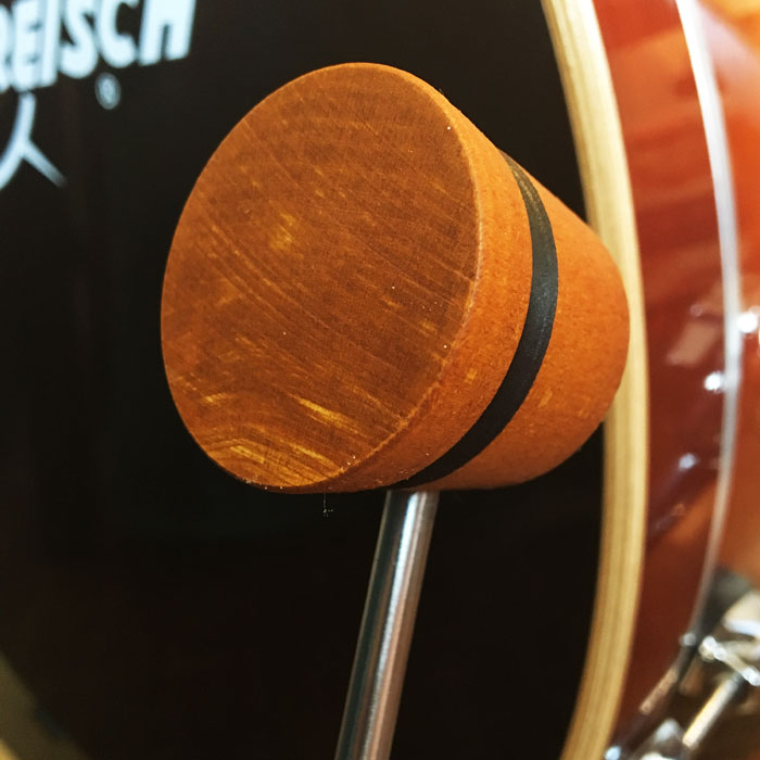 Amber & Black Lightweight Wood Bass Drum Beater