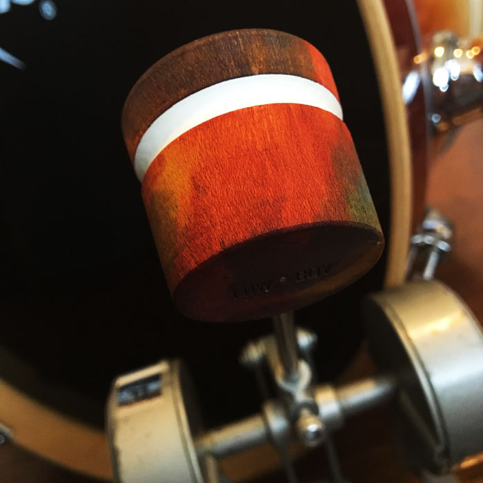 Tie Dye Wood Bass Drum Beater