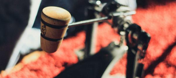Monogrammed Wood Bass Drum Beater