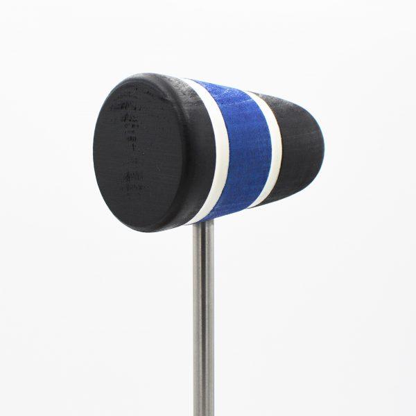 Standard, Black/Blue/Black with White Stripes