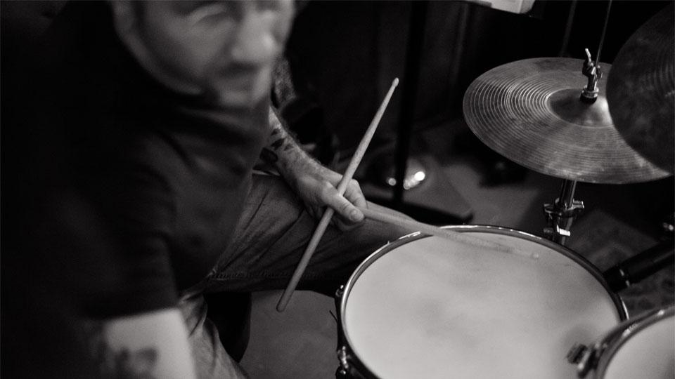 Scott Amendola at drum set