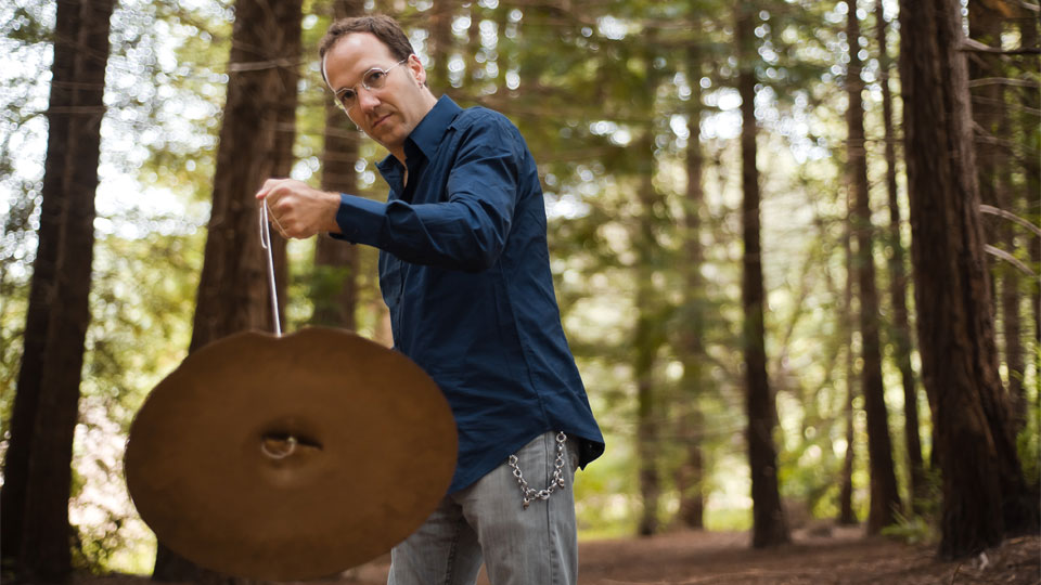 Scott Amendola with cymbal