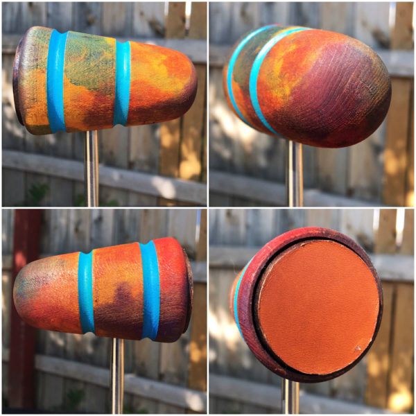 She Comes In Colors Wood and Leather Bass Drum Beater