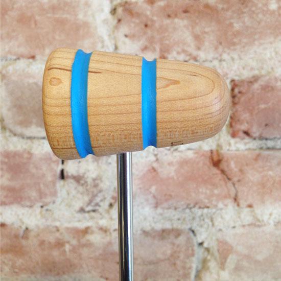 Shock Blue Wood Bass Drum Beater