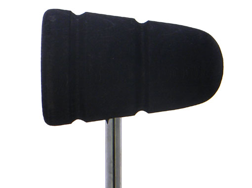 Low Boy Wood Bass Drum Beater - Black with Black Stripes