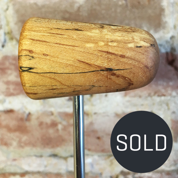 Spalted Maple Bass Drum Beater #4 - Sold