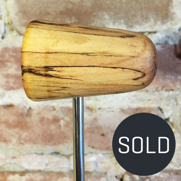 Spalted Maple Bass Drum Beater #12 - Sold