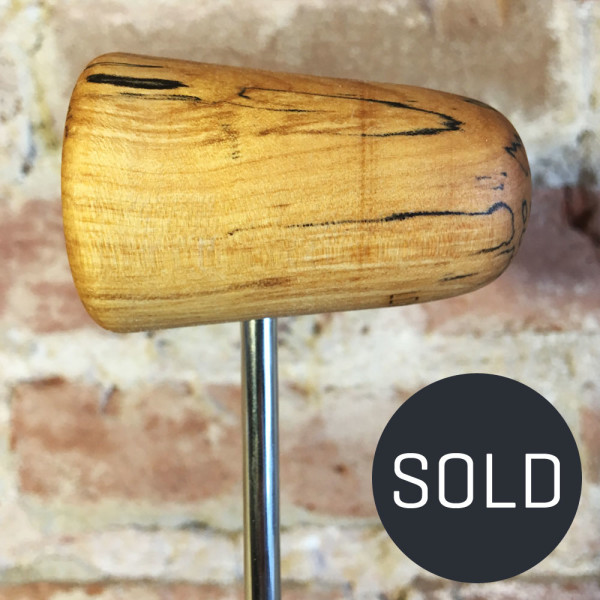 Spalted Maple Bass Drum Beater #14 - Sold