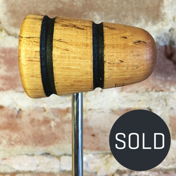 Spalted Maple Bass Drum Beater #17 - Sold