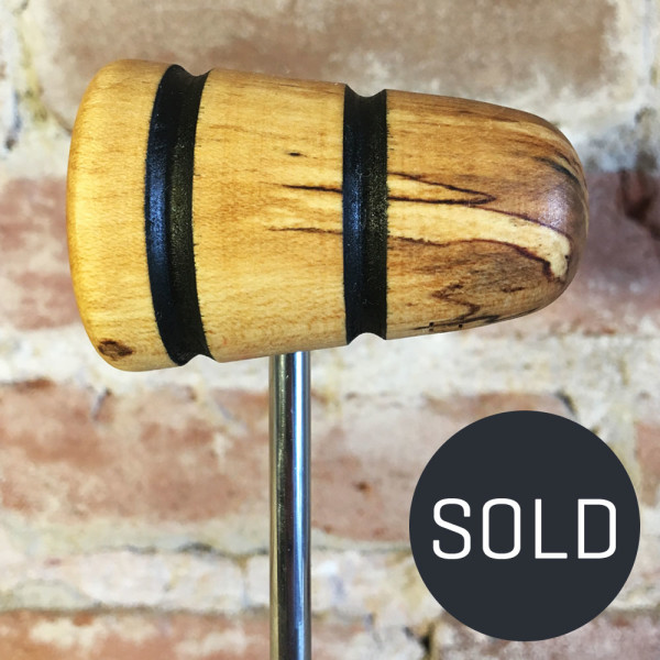 Spalted Maple Bass Drum Beater #18 - Sold