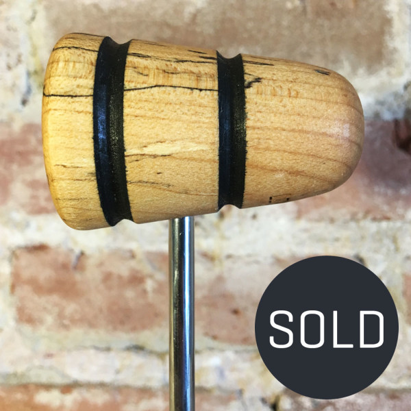 Spalted Maple Bass Drum Beater #19 - Sold