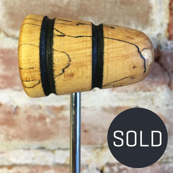 Spalted Maple Bass Drum Beater #20 - Sold