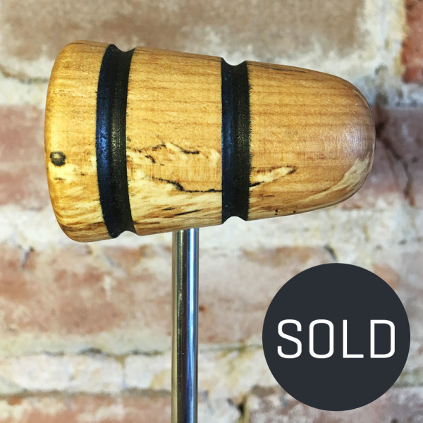 Spalted Maple Bass Drum Beater #21 - Sold