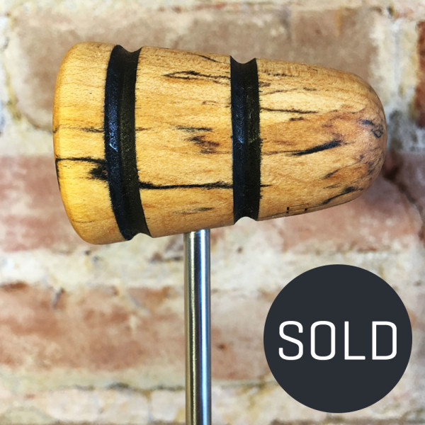 Spalted Maple Bass Drum Beater #22 - Sold