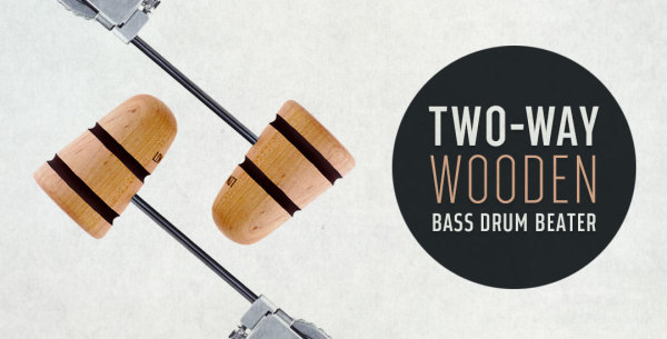 Two-Way Wood Bass Drum Beaters