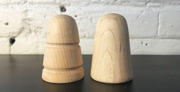 Unfinished Wood Bass Drum Beaters